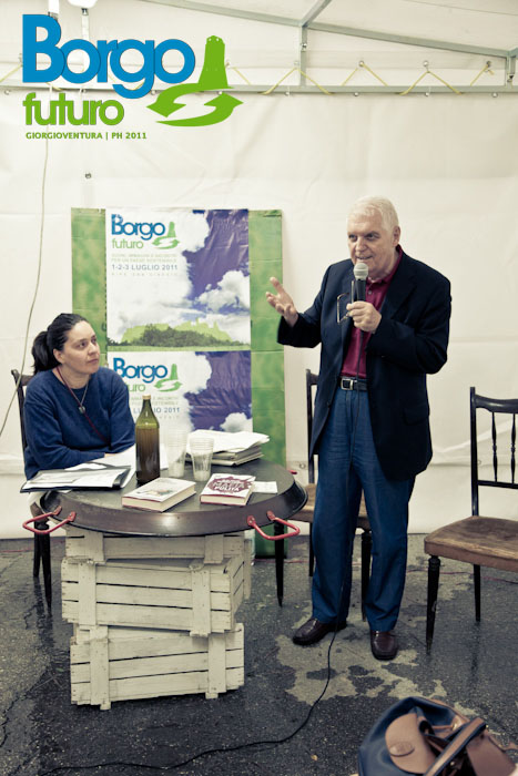 Barbara con Elio Veltri