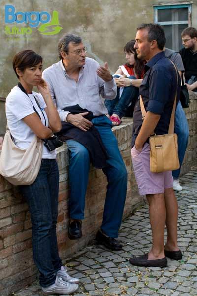 Oliviero Beha con il sindaco Paolo Teodori